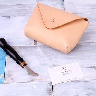[Cut line] pure hand leather bag / clutch bag