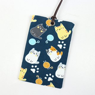 Youyou card ID card set card holder card - round cat (basket)