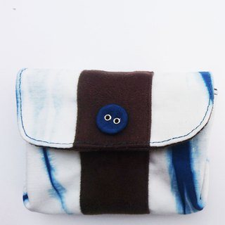 Indigo dyeing Coin Purse
