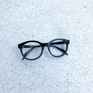 Prototype Round Oval Green eyeglasses eyewear 7 barrel hinge Handmade in Japan