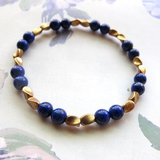 【Turn the World】 Lapis lazuli x Brass - Handmade natural stone series