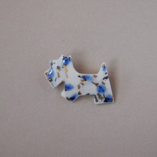 Terrier brooch feeling blue