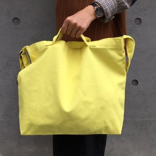 2 way canvas tote bag-Yellow No.1