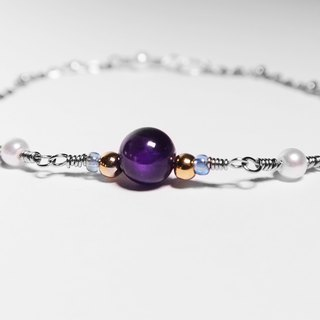 Cover Sweet Honey Series | Amethyst Stainless Steel Bracelet