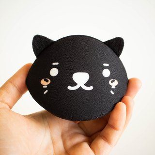 Black cat accessories case. Japanese style bag.Unique gift