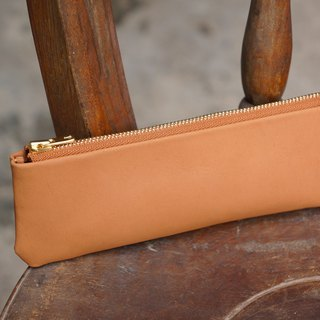 Leather pencil case (customizable lettering)