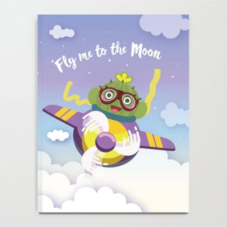 【Plump Planet Friends】Notebook | Cactus Ball Fly Me to the Moon