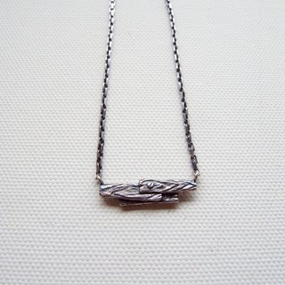 Wooden silver necklace