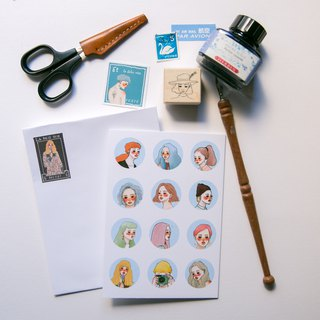 Meet A6 card with sticker envelope