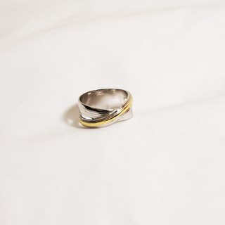 THE ROAD series - Come across meets - Male / Female - Silver Hand Ring (Wide)