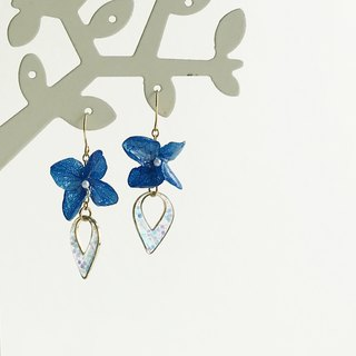 Real flower Hydrangea Earrings 18KGP earrings