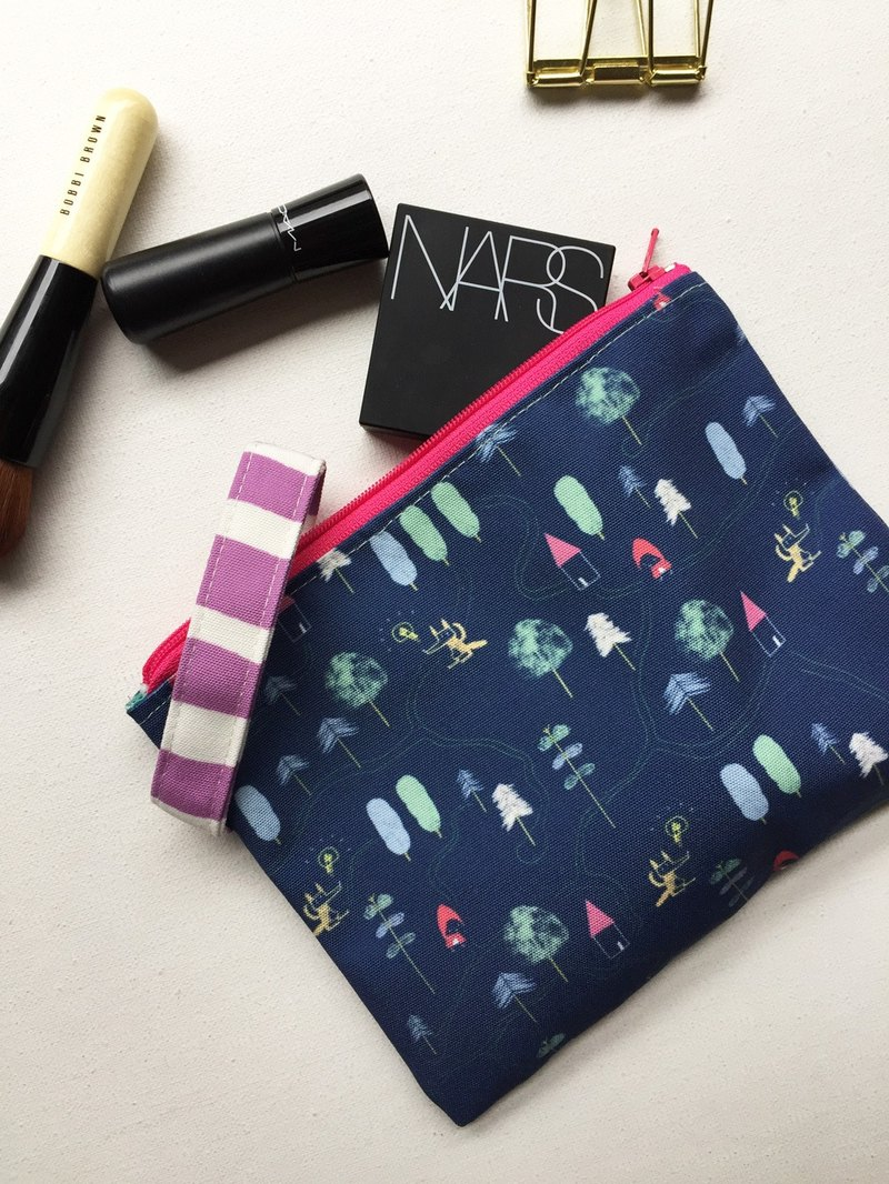 Zipper Pouch Bag, Little Red Riding Hood Cosmetic Bag, Clutch Bag, Fairy Tales Forest Trees Zipper Bag, Cute Pouch Bag Zipper Pouch Bag, Little Red Riding Hood Cosmetic Bag, Clutch Bag, Fairy Tales Forest Trees Zipper Bag, Cute Pouch Bag Zipper Pouch Bag,