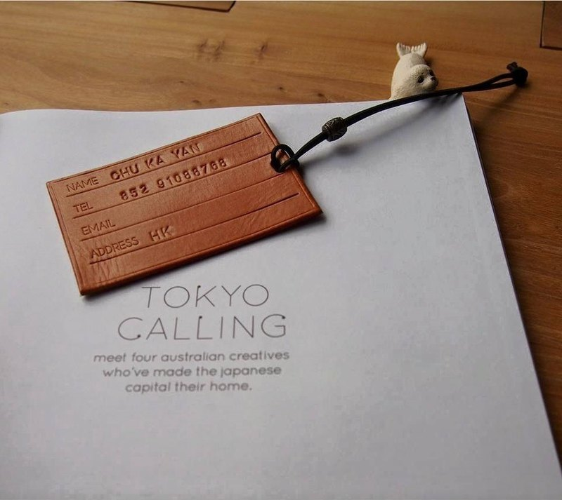 Hand-made tanned leather system card (even engraved name, phone, short address)