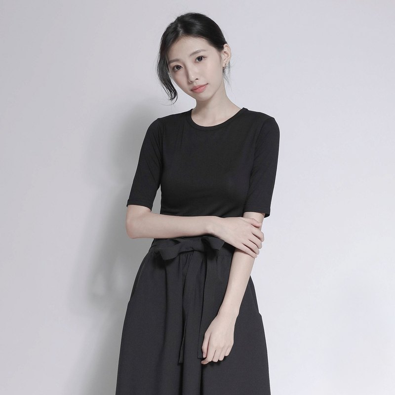 SU: MI said Surface earth sleeves shirt _7 AF000_ black