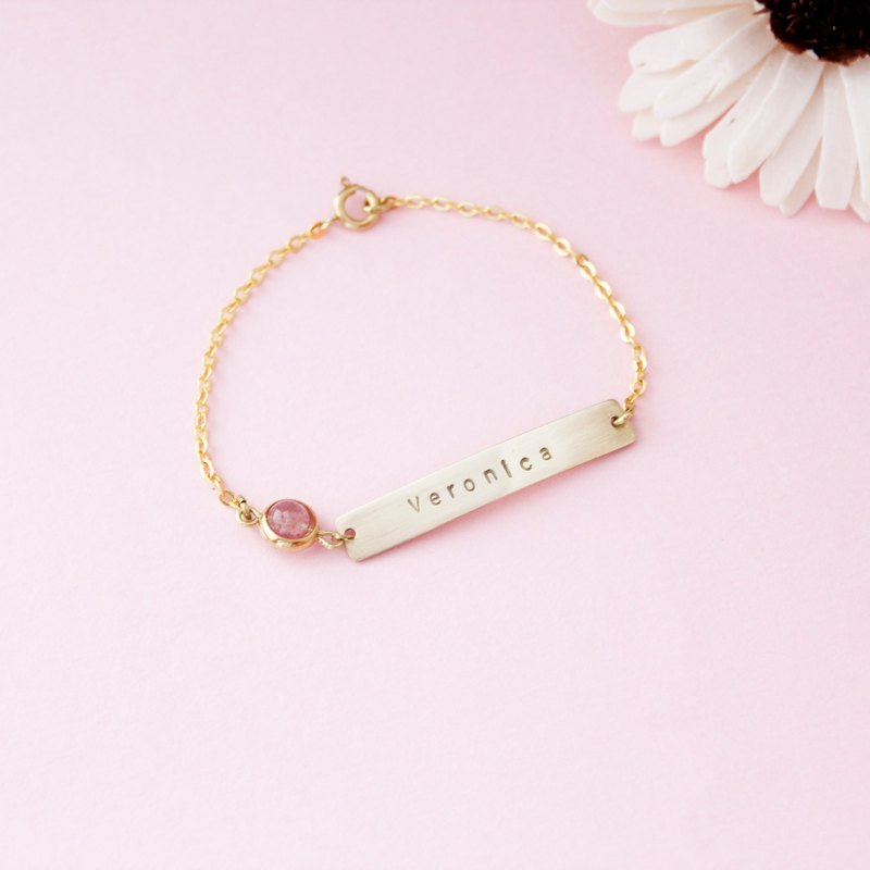 ◈ very simple. Strawberry Sweetheart Exclusive Bracelet ◈ Customized Hand Kneque Memorial Sisters Mother's Day Birthday Gift