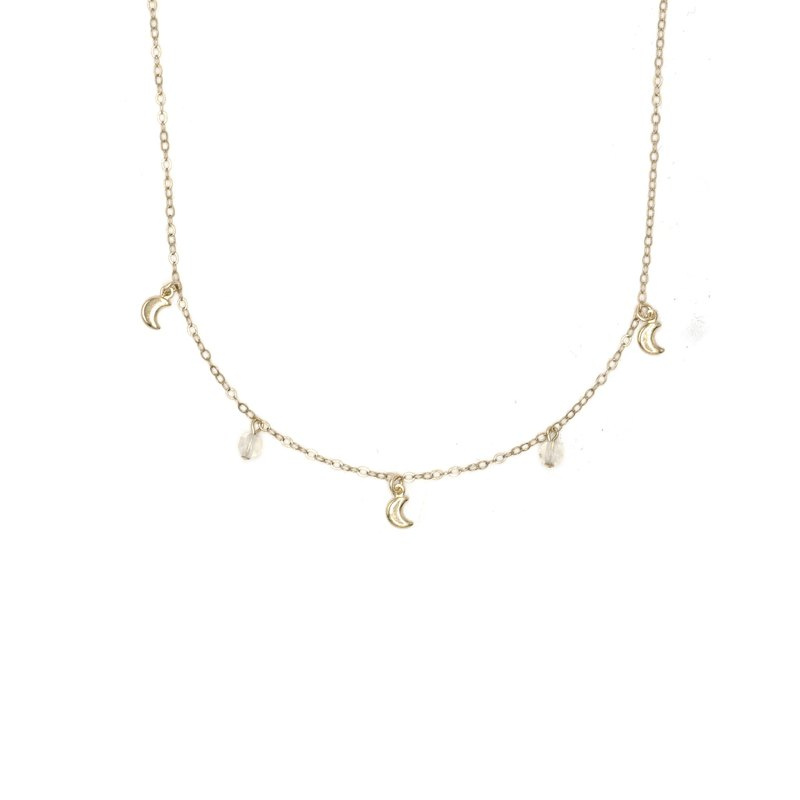 Moonlight Choker Necklace - 14K Gold Filled