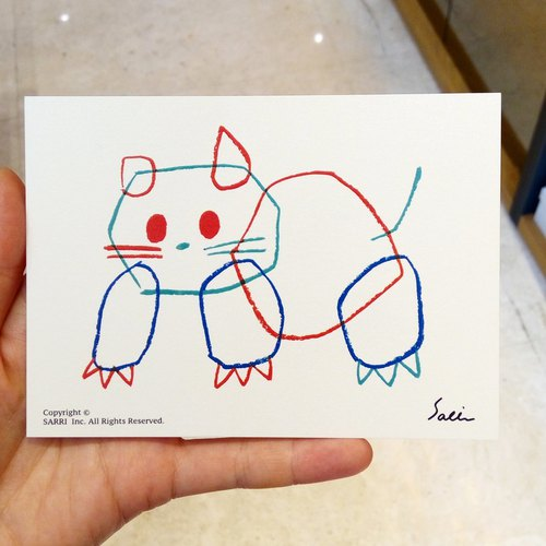 """Rubber Band Cat"" (Can make A3 size poster) Birthday Card Design Coloring Illustration Photobook Card Universal Card Art Art Modern Lovers Love Special Interesting Weird Features Weird Cute Taiwan Yellow Fun Funny Eye-catching Tide Art Sequin Fla"