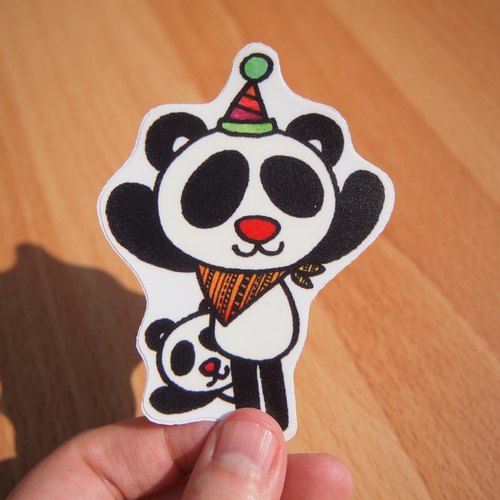 Waterproof stickers - panda
