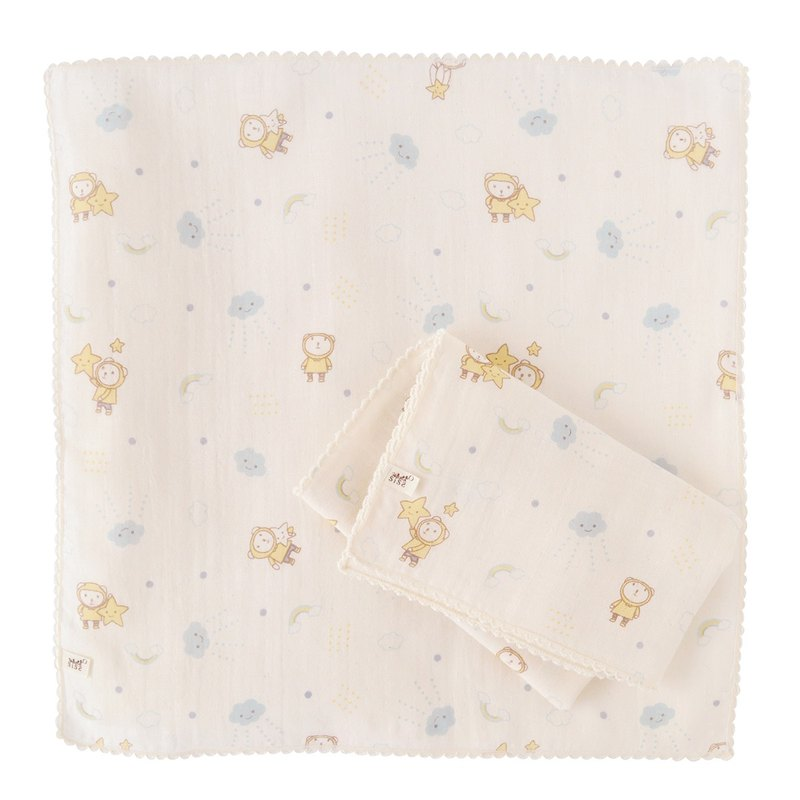 SISSO organic cotton clouds flying gauze handkerchief towel (two into)