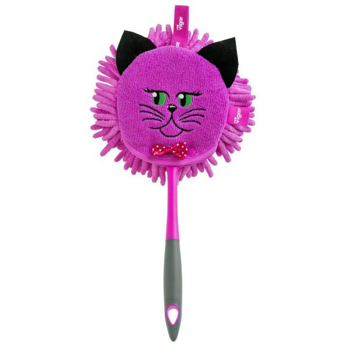 Spanish brand Vigar-Felix cat dual-use microfiber dusting Shan - pink purple cat
