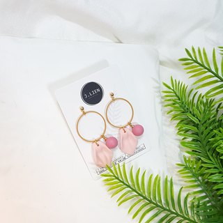 Falling flowers play - spring ear / ear clip handmade earrings Korea direct