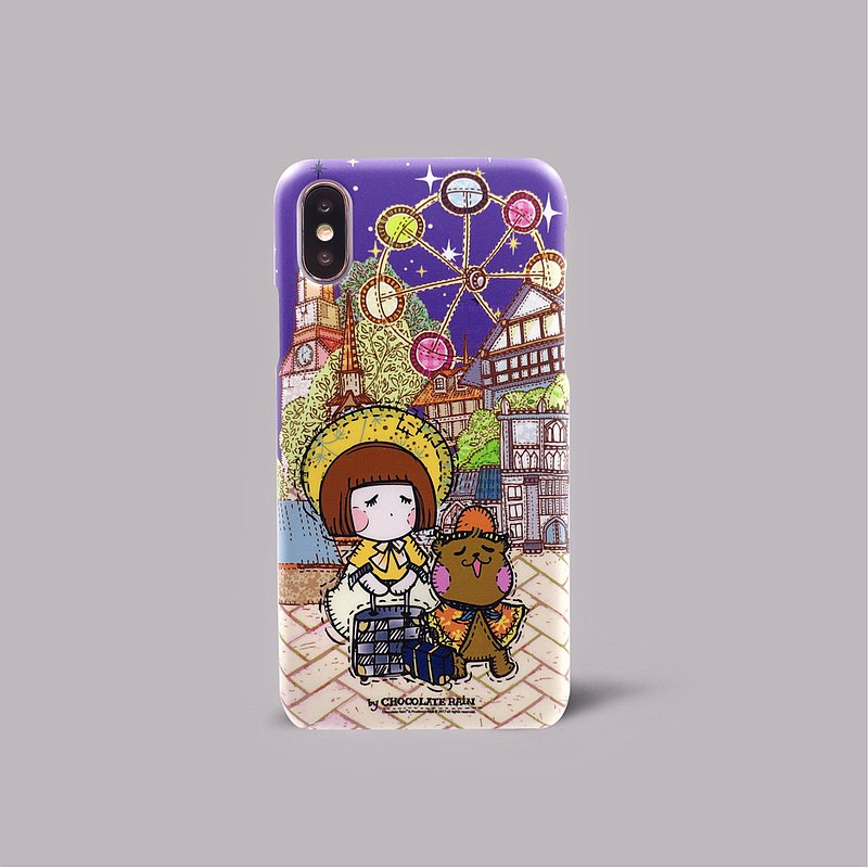 iPhone X Traveling Freedom Traveling in Europe Traveling Introversion Ferris Wheel Happiness Crust Phone Case ARIPHX-OL / CR-20-1