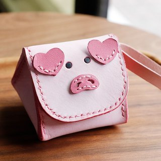 Royal rice ball pink pig animal stereo coin purse