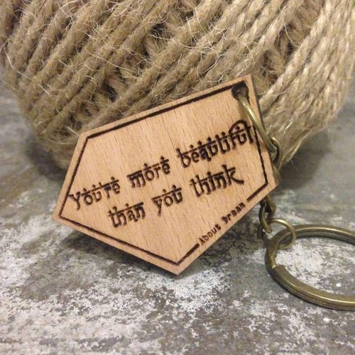[You're more beautiful than you think] beech keychain design models