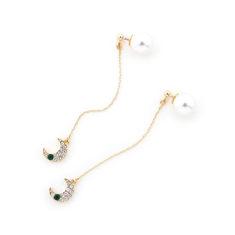 ANRI×JewCas Design by Megu Anri - Swarovski Moon Earrings - JC2507