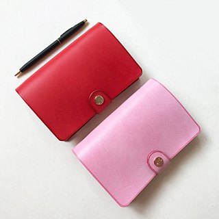 MARS Universal Handbook Six-hole loose-leaf leather hand note / pink rose