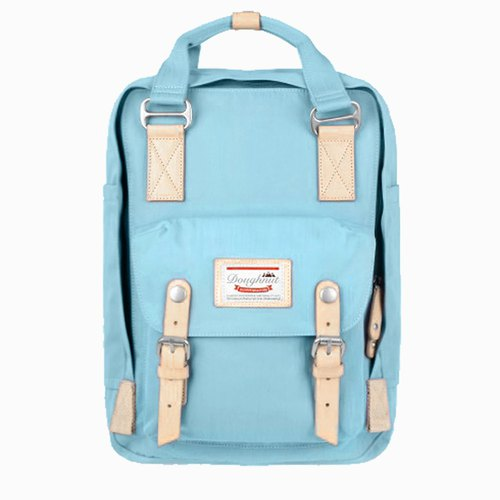 [Valentine's Day Gift] Doughnut Waterproof Macarons Backpack - Marine Blue Citrus