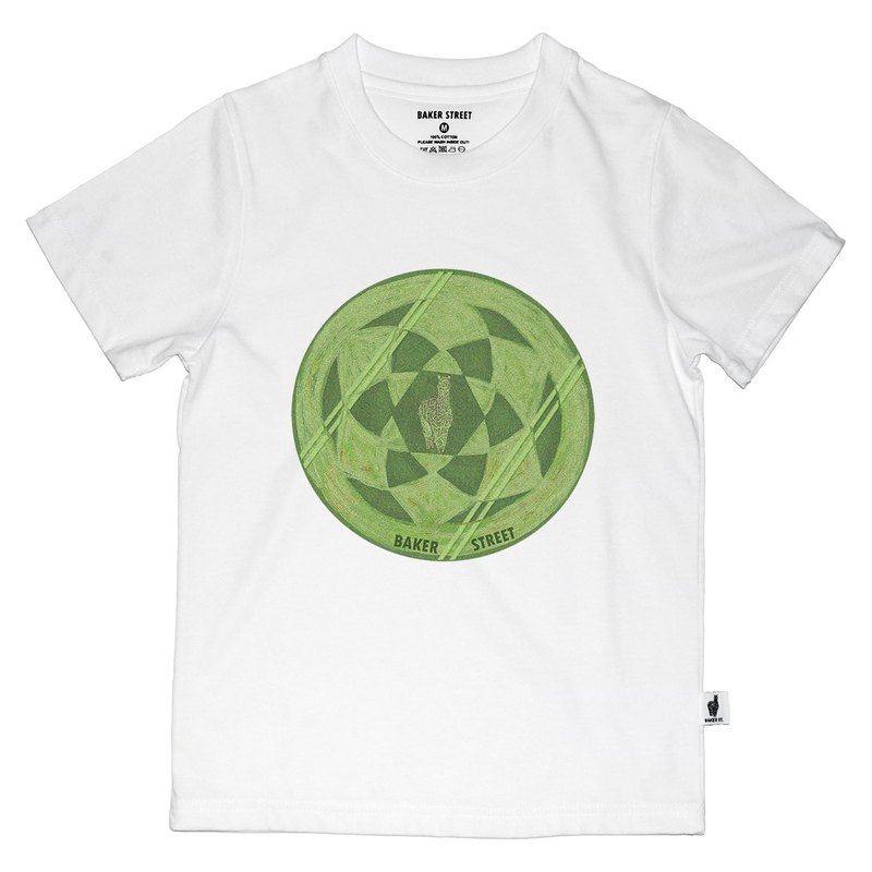 British Fashion Brand [Baker Street] Crop Circles Printed T-shirt for Kids