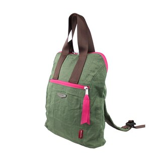 "Light green double backpack BODYSAC ""b651"""