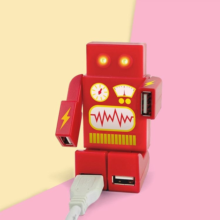 British Mustard USB HUB - Robot (Red)