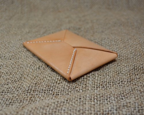 【kuo's artwork】 Hand stitched leather origami coin and business card holder