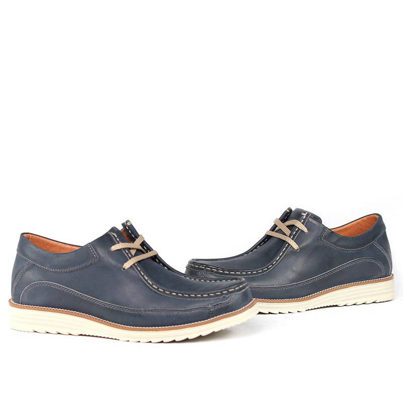 Sixlips functional lightweight leather kangaroo shoes blue