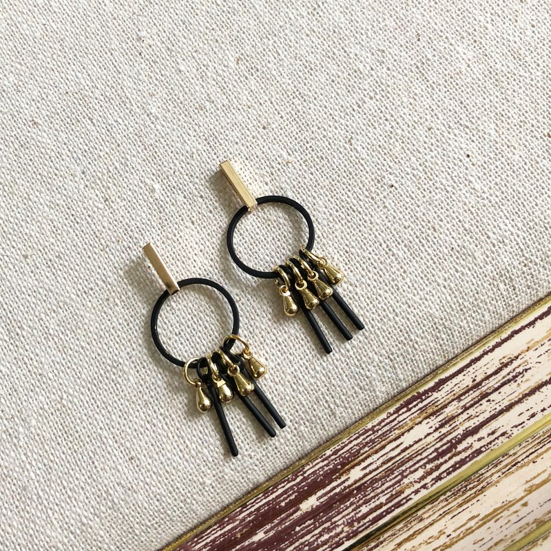 Elegant 925 Silver Gold Plate Earrings