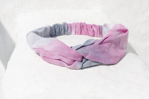 Christmas gifts Christmas market exchange gift limited a handmade hair band / French hair band / double knot hair band / elastic hair band / handmade cotton hair band / gradient hair band - romantic pink gradient rainbow
