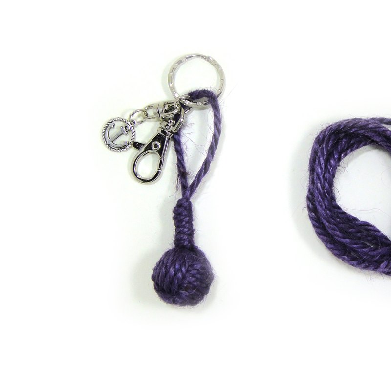 Anne's Handmade  | Handmade Sailor Knot Key chain - purple