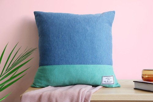Knitted pillowcase mint ice cream (including pillow)