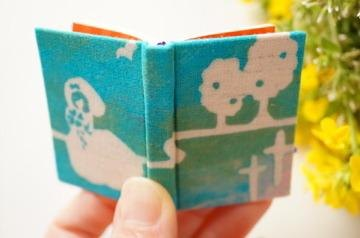 Wedding stencil dyeing miniature book