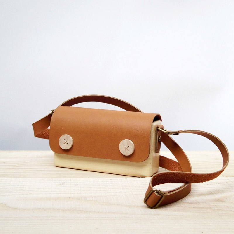 SLs wooden bag - terracotta brown