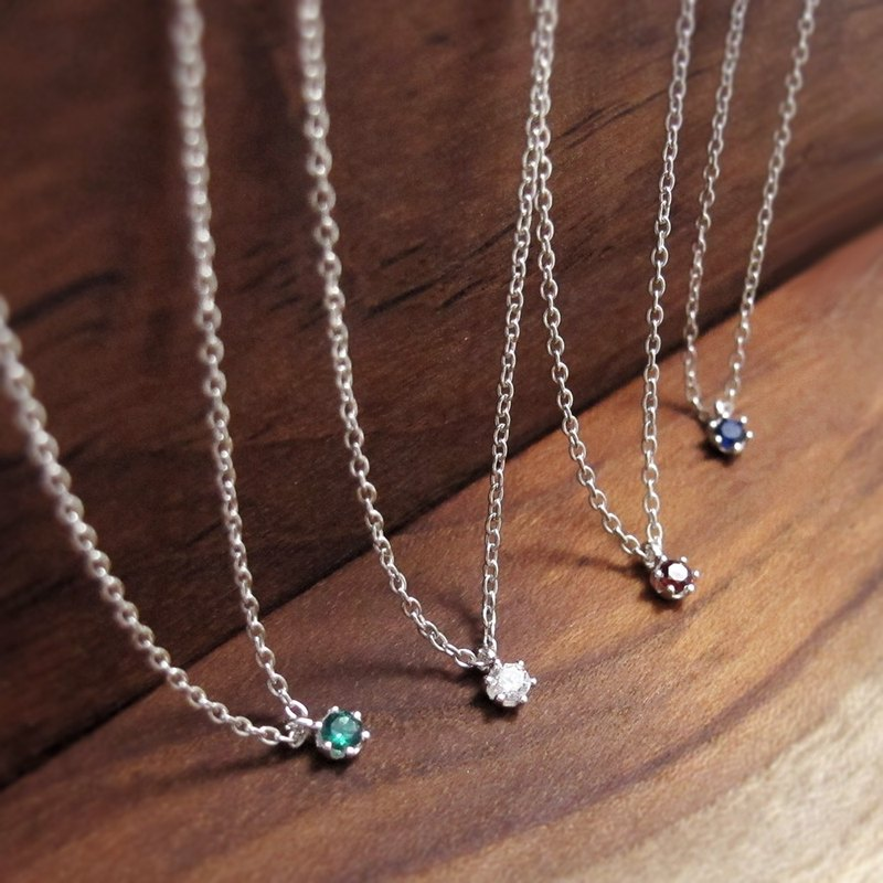 Starlight-925 sterling silver gemstone necklace