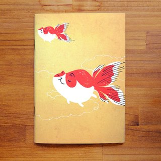Goldfish Cat Notebook