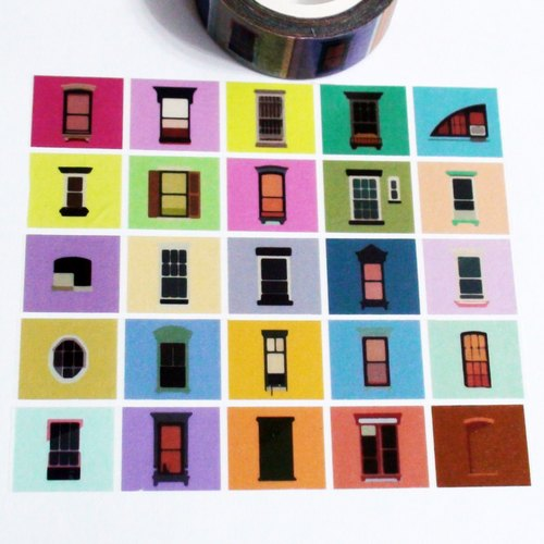 Customized Mini Washi Tape Blue Sky Outside The Window
