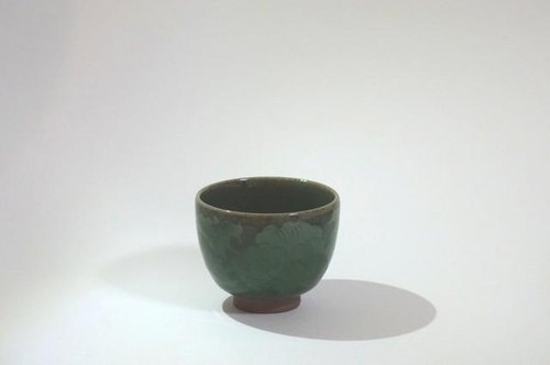 Cups (celadon inlay peony)