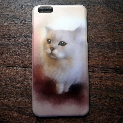 Watercolor cat s013 you looking at me? David Videos Cat iPhone (i5.i6s, i6splus.I7.I7plus) / Android (Samsung, Samsung, HTC, Sony) designer mobile phone shell / protective cover / kitty cat phone shell