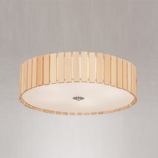 Japanese style wind wood round ceiling light