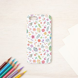 "Multicolored in Japanese. Smartphone case ""Peach flower bird color"" SC-406"
