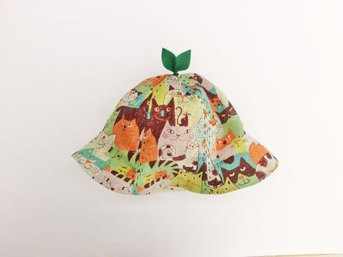 Grow Up! Leaf Hat for Baby & Toddler / CAT! CAT! CAT!/Brown